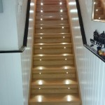 stair renovation with lights