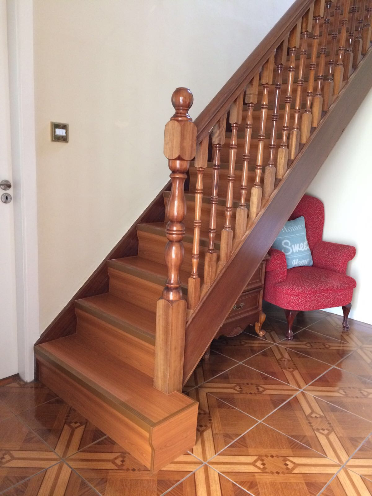 stair finish example